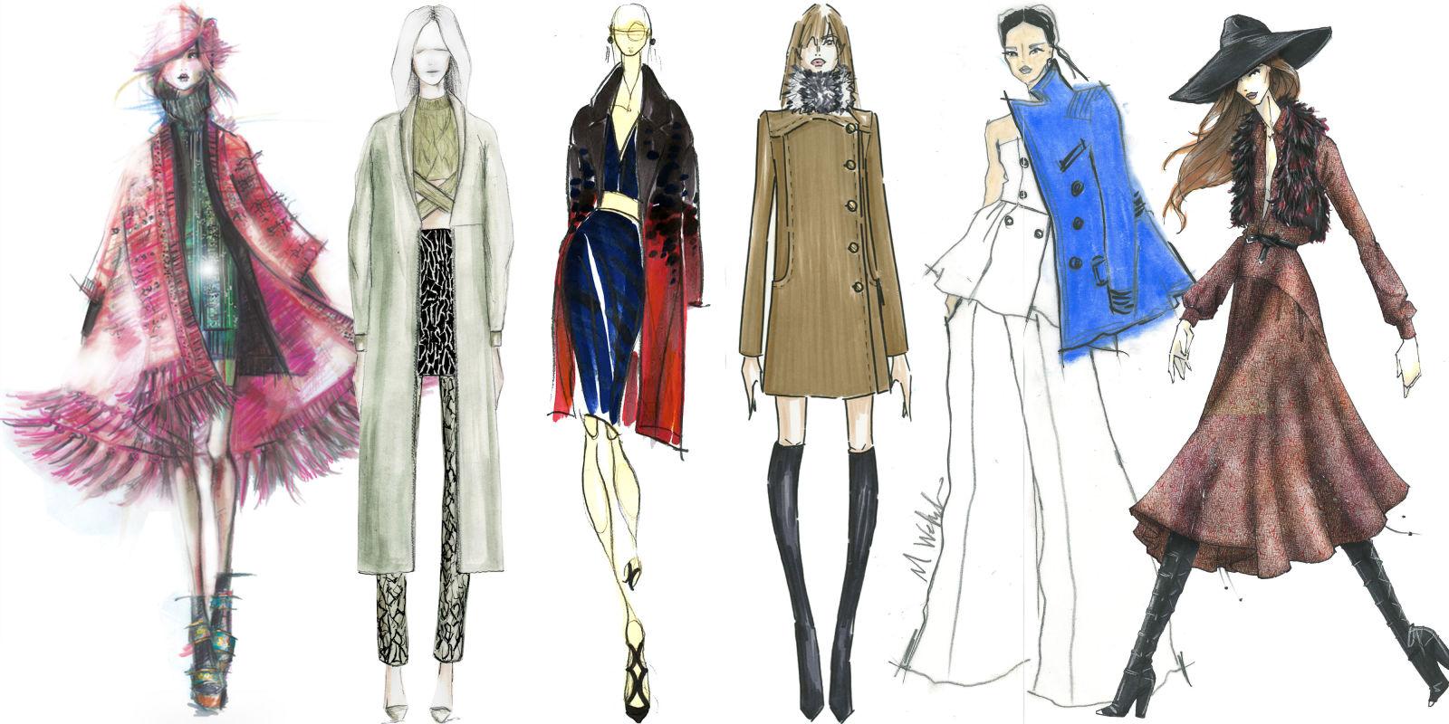 El dibujo y el mundo de la moda la revista in for Dibujos de disenos de moda
